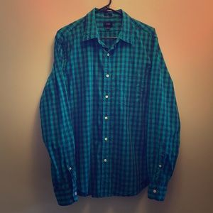 J. Crew Slim Plaid Button-Down Long-Sleeve Shirt